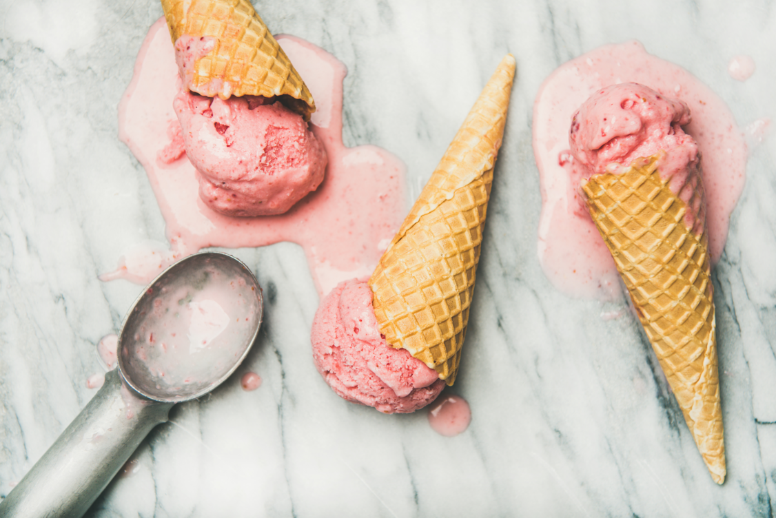 Could adding freeze dried fruit powder stop your ice cream from melting?